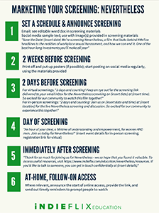 Marketing Your Screening - Nevertheless preview page