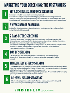 Marketing Your Screening - Upstanders preview page